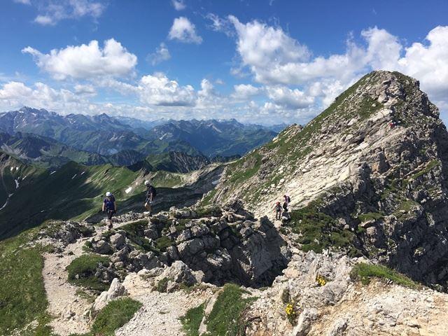 Klettersteigset Leihen Oberstdorf : Tagestour hindelanger klettersteig